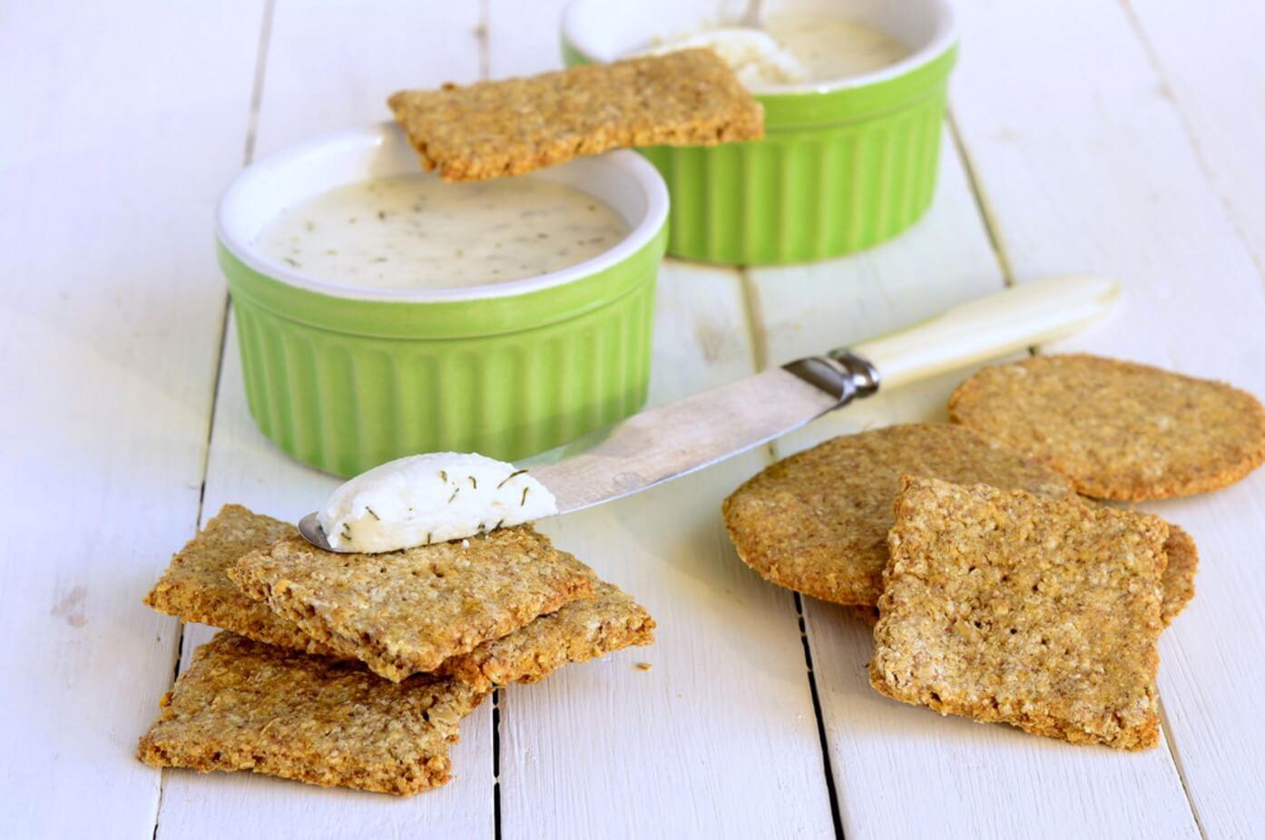 Cómo hacer galletas saladas bajas en calorías