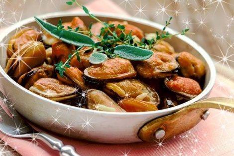 Recetas de primeros platos con marisco para Nochevieja