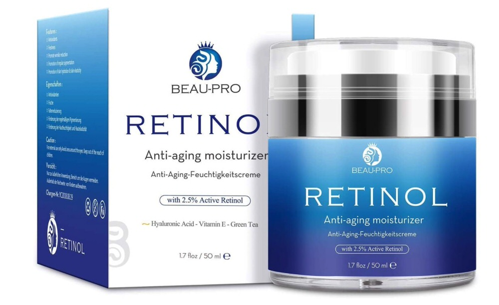Crema hidratante con retinol para día y noche de Beau-Pro