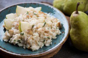 Cómo hacer un risotto de gorgonzola y pera