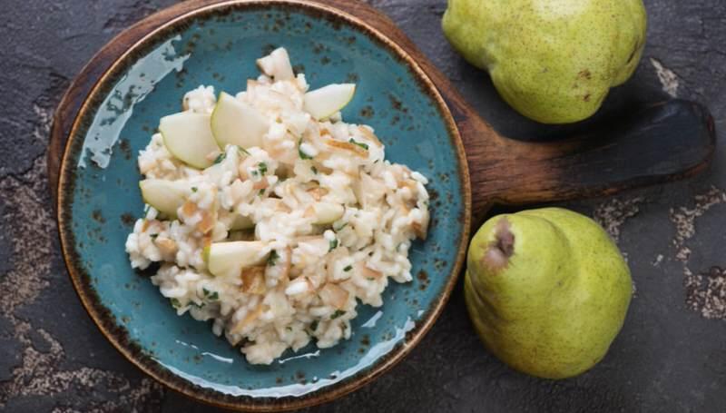 Risotto de pera y gorgonzola