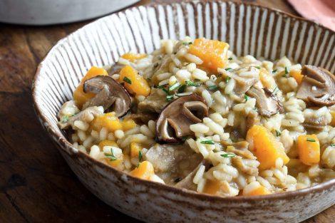 Risotto de setas y calabaza: receta ideal para el otoño