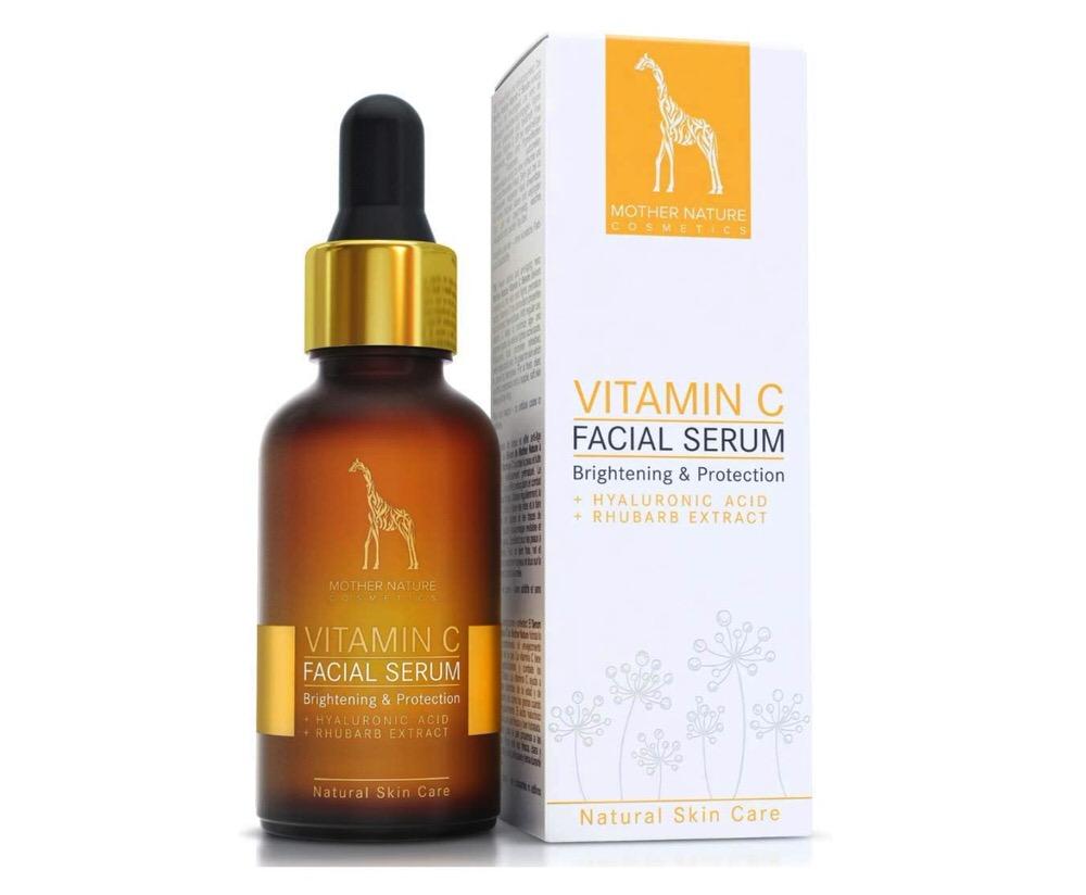 Sérum facial con vitamina C, ácido hialurónico y extracto de ruibarbo de Mother Nature Cosmetics