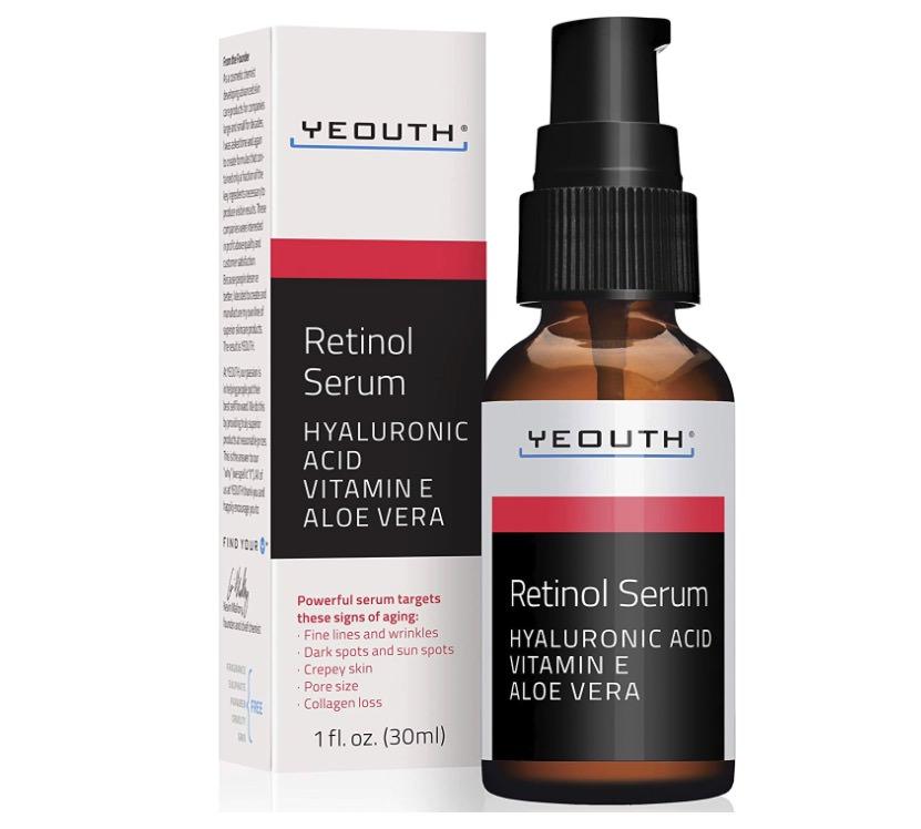 Sérum facial con retinol al 2,5% de Yeouth