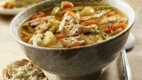 Receta de sopa de pollo para la gripe