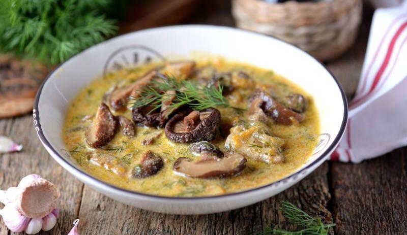 Receta de sopa de setas