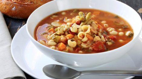 Deliciosa sopa Minestrone