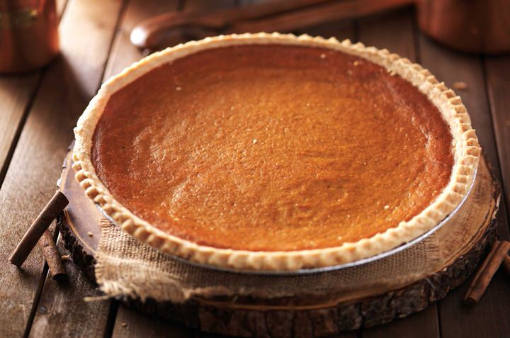 Tradicional tarta de calabaza