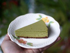 Receta de tarta de queso con té matcha (Matcha Cheesecake)