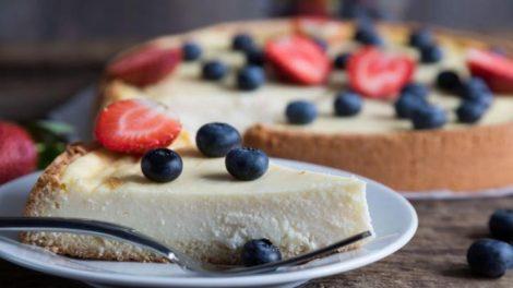 Receta de tarta de queso vegana