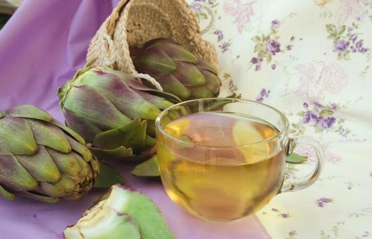 Bebida de hojas de alcachofa para perder peso