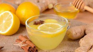 Té de jengibre, canela y limón