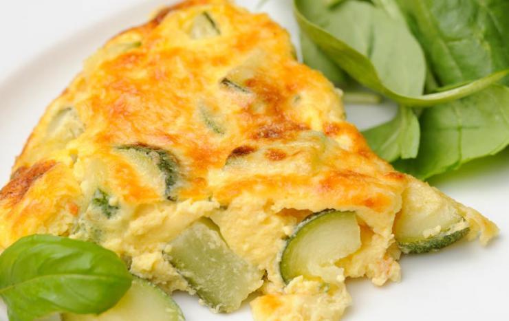 Receta de tortilla de patatas con calabacín vegana