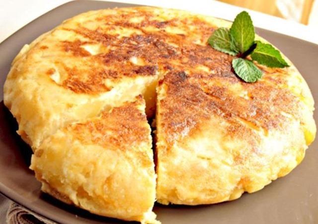 Receta de tortilla de papas sin huevo