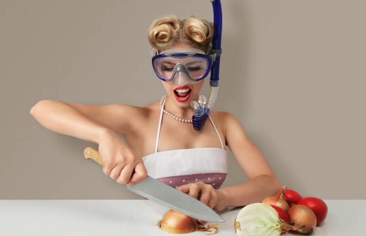 Cortar cebolla sin irritación en los ojos