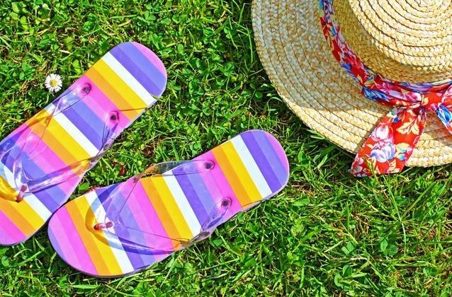 Uso de sandalias en verano