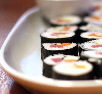 Composición nutricional del sushi