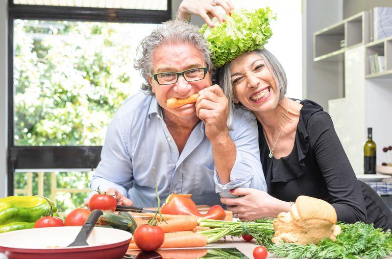 Verdura y frutas en la tercera edad