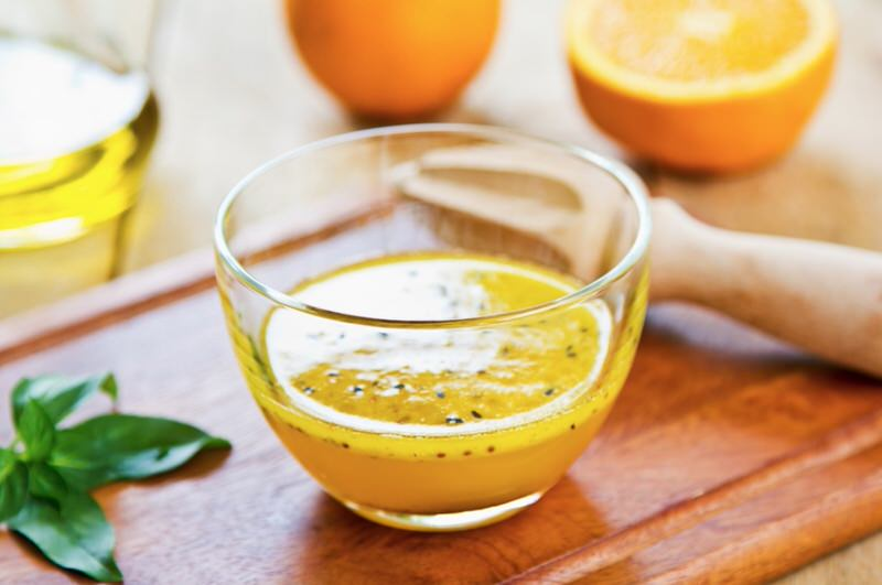 Receta de vinagreta de naranja