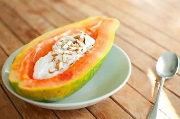 Yogurt con papaya